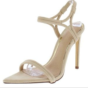 Shoes - 🆕Nude Pointy Toe Strappy Sandals